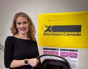 Local Conservative candiate Laila Goodridge voted at her local election office in Fort McMurray in advance of election day Sept. 20. PHOTO: LAILA GOODRIDGE/FACEBOOK