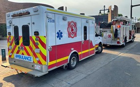 As shown responding to a medical call in St. Albert, Strathcona County Emergency Services crews are responding to calls for service more often outside of the county as call volumes increase across the Capital Region. Photo courtesy Facebook/Strathcona County Firefighter/paramedics