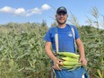 Submitted photo of Oliver Papple, a 21-year-old farmer who grows two acres of sweet corn on his farm just outside of Seaforth.