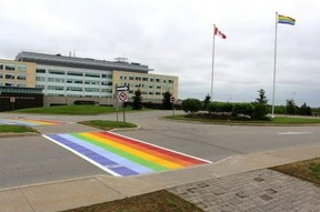 Norfolk council continues to support the idea of rainbow crosswalks in principle. However, council also wants to hear more about how the community might fundraise for the extra expense of rainbow crosswalks versus crosswalks consisting of basic white paint. – Norfolk County photo