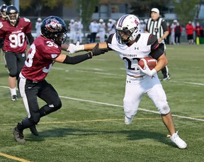 The Sal Comp Sabres improved to 2-0 with a 45-7 win over Bellerose. Photo courtesy Connie Nichol
