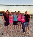 """""""Sexy Beaches"""" posed after downing """"Can You Dig It"""" 21-18 and 21-17 to take the competitive beach volleyball championship as Social Athletics of Saugeen Shores staged its season-ending tournament at Port Elgin Main Beach Sept. 17/18. [Nicole Deyell]"""