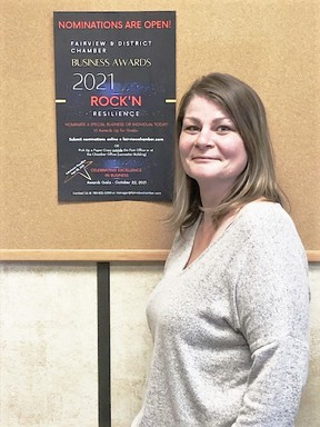 Pauline Lyman, manager of the Fairview & District Chamber of Commerce, urges community members to nominate a business, organization or individual who they feel has shown exceptional resilience in 2021