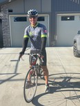 Leduc RCMP constable Alain Castonguay rode 106 kilometers for cancer research through the Enbridge Tour Alberta for Cancer on August 28.