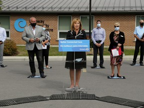 Surrounded on Friday afternoon by local dignitaries outside Tweed's Gateway Community Health Centre, Ontario Deputy Premier and Health Minister Christine Elliott announces the creation of eight new Ontario Health Teams. They included the new Hastings-Prince Edward team.