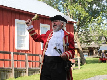 Town Crier Wes Libbey at the Harvest Festival at the Glengarry Pioneer Museum. Photo on Sunday, September 12, in Dunvegan, Ont. Todd Hambleton/Cornwall Standard-Freeholder/Postmedia Network