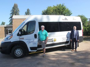 The Pembroke and Laurentian Valey Handi-Bus has been safely providing door-to-door transit services for seniors and people with disabilites for 32 years. In the photo from left, Dan Callaghan, Handi-Bus manager, and Pembroke Deputy Mayor Ron Gervais, chairman of the Friends of the Disabled Inc. board of directors, the organization behind the Handi-Bus.
