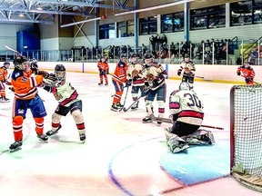 Soo Thunderbirds played host to Blind River Beavers in their 2021-2022 Northern Ontario Jr. Hockey League regular season opener at John Rhodes Community Center. Blind River eked out a 2-1 decision over the Soo. BOB DAVIES/SAULT THIS WEEK
