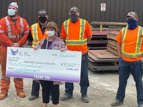 The Northern Cancer Foundation and BM Metal's annual Scrap Cancer Campaign raised $42,261 this year. This includes a $30,000 donation from Carriere Industrial Supply, which has now donated more than $230,000 since 2010. Supplied