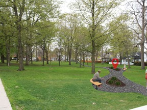 A mockup of the newly named Florence Carlyle Park and Bruce Flowers Sculpture Garden. SUBMITTED PHOTO