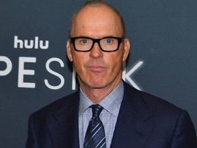 """Actor Michael Keaton attends the Hulu premiere of """"Dopesick"""" at the Museum of Modern Art (MoMA) on Oct. 4, 2021 in New York City."""