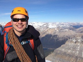Jean-Francois Dupras, Canmore's local mental health advocate, has a project to climb Mt Everest in May, 2022. He is inviting the Bow Valley residents to join him in hiking part of his challenge to climb Ha Ling in Canmore eleven times during the weekend of October 9-10, for a total of 8848m, the elevation of Mount Everest. Photo submitted.