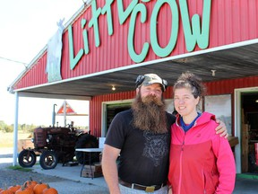 Wes Kuntz and Jenny Butcher, owners of Little Brown Cow Dairy Farm and Store on Cockshutt Road, have been named Ontario's Outstanding Young Farmers for 2021.