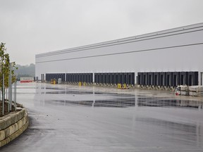 The City of Brantford has issued almost $80 million worth of building permits so far in 2021 for the 48,124-square-metre refrigerated facility at 140 Oak Park Road being built for Hershey's Canada.