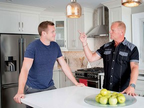Home building expert Mike Holmes (right) with his won, Mike Holmes Jr. Holmes Group photo