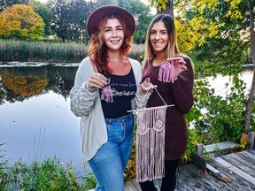 From left, Homespun Lovey Bianka Sauvé and Angie Osman with their breast themed products.Handout/Cornwall Standard-Freeholder/Postmedia Network