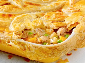 CHICKEN POT PIE WITH HARVEST VEGETABLES. ATCO Blue Flame Kitchen