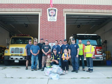 The West Grey Ayton Station Fire Department took part in the annual road clean up in mid-September.
