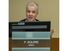 Councillor Phil Squire (ward 6) speaks during budget talks at city hall in London, Ont. on Thursday February 13, 2020. Derek Ruttan/The London Free Press/Postmedia Network