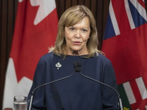 Health Minister Christine Elliott walked reporters through the reopening strategy Friday.