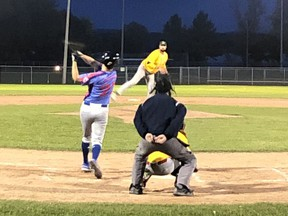 Pembroke A's pitcher Tommy Serran struck out six batters to pick up the win as the Pembroke A's blanked the Chapeau Expos 9-0 in the final game of the Ottawa Valley Men's Baseball League season at Riverside Park on Oct. 1.