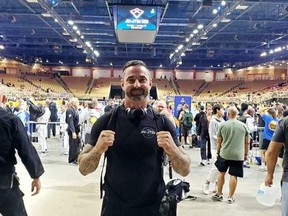 Brent LeBlanc at the Silver Spurs Arena in Kissimmee, Fla., site of the International Brazilian Jiu-Jitsu Federation Pan Am Championships. Supplied