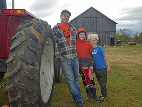 Roots and Roost in Trout Creek is holding its third-annual Pumpkin Patch Tour this Saturday. Host  Greg King says his sons ÐÊBenjamin, 11, Colin, 7, and Simon, 5 Ð  will all be on hand to answer people's questions and provide their unique perspectives on farming. Rocco Frangione Photo