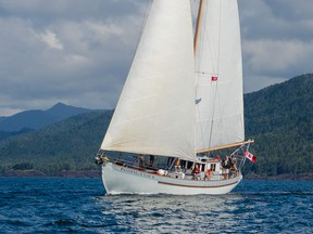 Outer Shore's Passing Cloud sails to the Great Bear Rainforest, Haida Gwaii and beyond in 2020.