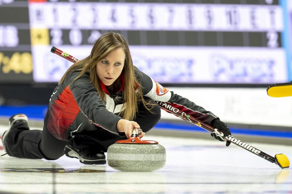 Rachel Homan competes in the Scotties Tournament of Hearts, the Canadian national women's curling championship.