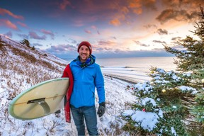 In Nova Scotia, a top cold-water surfing destination, riders paddle into the Atlantic all winter long.