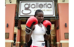 Boxgirls head coach is Sarahj Ndisi, whose organization is training about 800 girls in Kenya, mostly through schools, but hopes to expand to over 1,000 students with the new funding from MATCH International Women's Fund.