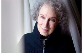 Canadian author Margaret Atwood is pictured in a Toronto hotel room on Tuesday March 6, 2012. After three days of science awards the Nobel spotlight turns to the art of writing Thursday when the Swedish Academy will announce the winner of the Nobel Prize in literature. THE CANADIAN PRESS/Chris Young.