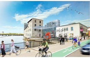 Illustration of proposed development by the Windmill Development Group for the Domtar Lands at the industrial brownfield site on ChaudiËre and Albert Islands and adjacent riverfront in downtown Gatineau