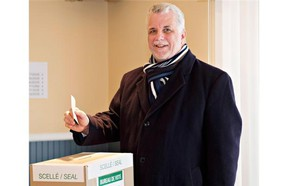 Quebec Liberal Party Leader Philippe Couillard casts his ballot Monday, April 7, 2014 in St-Felicien, Que. THE CANADIAN PRESS/Jacques Boissinot