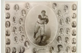 A rare framed photo of the 1900 Ottawa Rough Riders that writer Dan Turner auctioned online as a fundraiser for L'Arche Ottawa.