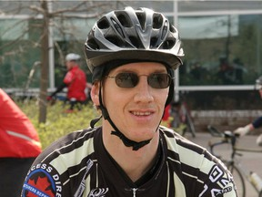 Mario Th�oret, who died on Thursday morning, October 17, 2013 when he was struck by a truck while cycling on Hunt Club at Merivale Rd., for 1019-city-cyclist (date of photo given in file name YYYYMMDD)