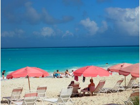Turks and Caicos have an average temperature of 27 C to 32 C all year around.