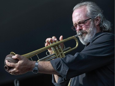 Brigham Phillips performs on the main stage at the 2014 Ottawa Jazz Festival.