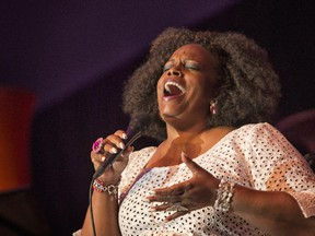 Dianne Reeves performs on the Main Stage at the 2014 Ottawa Jazz Festival.