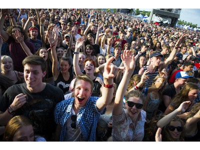 Fans went crazy for Awolnation at the Bell stage during Bluesfest Saturday July 12, 2014.