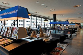 Almere's New Library looks more like a bookstore than a library, with plenty of comfortable reading spots
