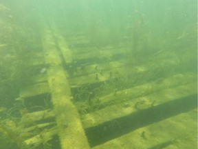 Divers can see what remains of the greatest warship to ever sail the Great Lakes, HMS St. Lawrence.