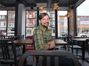 Jon Svazas in his new Bank Street restaurant, Fauna, on the eve of the much-delayed grand opening.