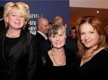 From left, Sheefra Brisbin with Diane Dupuis and Deneen Perrin from sponsor Fairmont Cha'teau Laurier at the Hope Live charity gala for Fertile Future, held Monday, Oct. 27, 2014, at the GCTC.