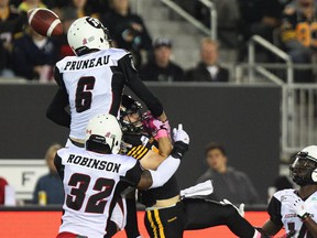 Redblacks' Antoine Pruneau had nine tackles and a sack against Hamilton when they last played two weeks ago in the Steel City.