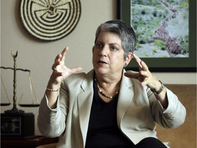 Former U.S. homeland security head Janet Napolitano worried about Canada.