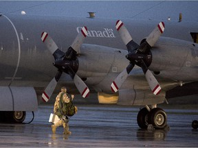 A recent photo of a CP-140M Aurora reconnaissance aircraft now in use in the fight against ISIL.