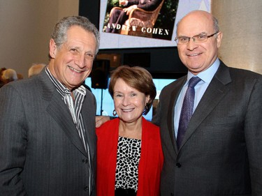 From left, Ronald Cohen with University of Ottawa adjunct professor Penny Collenette and her husband, former Liberal cabinet minister David Collenette, at the launch of Andrew Cohen's new book, Two Days in June: John F. Kennedy and the 48 Hours that Made History.