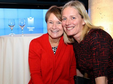From right, federal Liberal Party candidate Catherine McKenna with her mentor, Penny Collenette, at the launch of Andrew Cohen's new book, Two Days in June: John F. Kennedy and the 48 Hours that Made History.