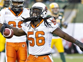 B.C. Lions linebacker Solomon Elimimian is nominated for the CFL's most outstanding and top defensive player awards.